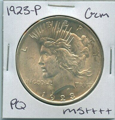 1923-P Peace Dollar Uncirculated US Mint Coin PQ Gem Silver Coin Unc MS++++++