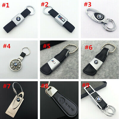 Metal alloy Leather car logo Key Chain Key Ring pendant Key Holder Fit For BMW