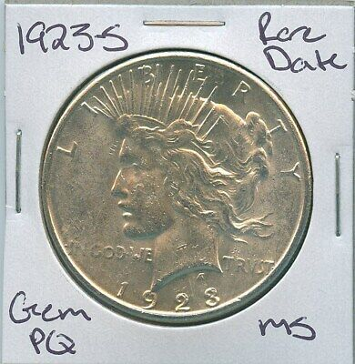 1923-S Peace Dollar Rare Date Uncirculated US Mint Coin PQ Gem Silver Coin MS