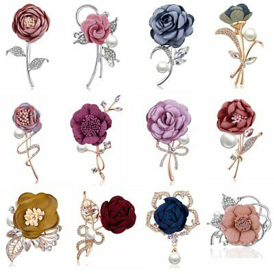 Women Accessories Lapel Flower Handmade Boutonniere Stick Brooch Pin Wedding New