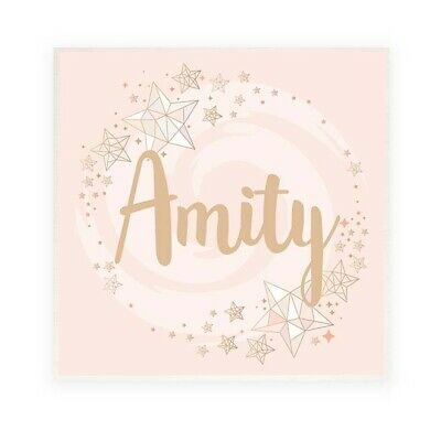 PERSONALISED CHILD NURSERY ROOM Door Sign Name Plaque Swirly Stars