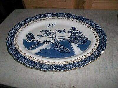 Booths Real Old Willow A8025 Oval Serving Platter