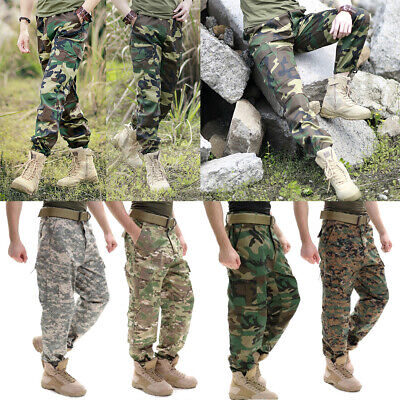 Men's Camouflage Trousers Military Army Work Pants Fitness Running Long Pant
