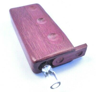 Stash Box W/ Glass One Hitter Pipe, Slide Lid Dugout, Glass Chillum, Purpleheart