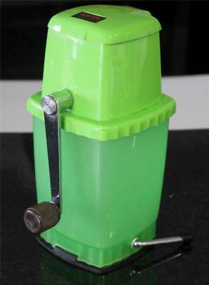 Vintage Retro Heavy Duty Orange Lime Green SWING A WAY ICE CRUSHER