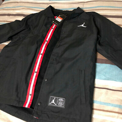 4292f652e6e0 PSG X JORDAN Paris Saint-Germain Coaches Jacket Black New - S M L XL ...