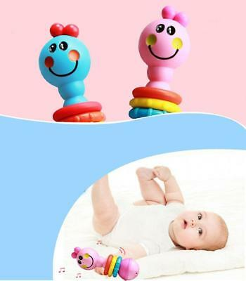 Baby Infant Colorful Musical Bell Handbell Rattle Education Instrument Toys B