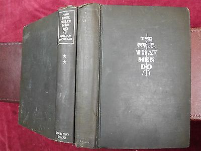 WILLIAM ROUGHEAD: EVIL THAT MEN DO/CRIME CLUB/2 BOOKS/RARE 1929 1st, $100+