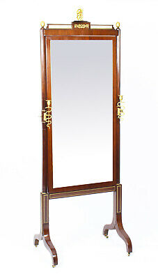 Antique Russian Empire Revival Cheval Mirror Royal Provenance 19th Century