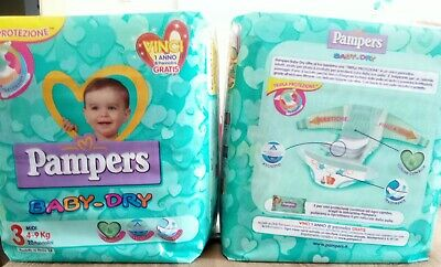 Pampers Baby-Dry 40 Pannolini 4-9 Kg