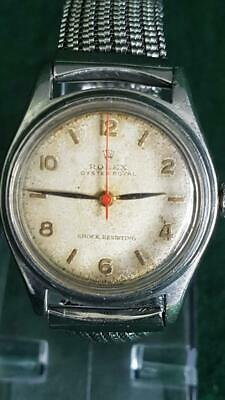 Hard to Find V Good 1950s Rolex Oyster Royal Automatic Wristwatch w Date