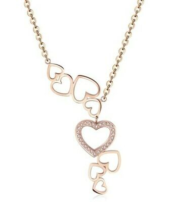 Necklace S'AGAPO' New Collection MAD LOVE  - SMV02 Rose Gold