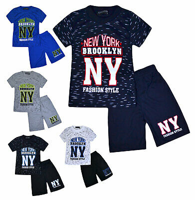 Boys Summer Set Short Sleeve T-shirt Top and Shorts Age 2 3 4 5 6 7 8 9 10 Years