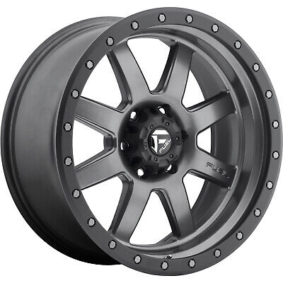 20x9 Gray Black Fuel Rebel D680 Wheels 5x150 1 Lifted Fits Lexu