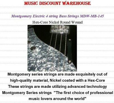 Music Discount Warehouse Montgomery 4 string Bass guitar strings