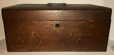 Very Nice ANTIQUE DOCUMENT BOX OLD Dry Finish 1800'S