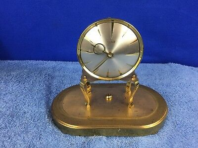 Kieninger & Obergfell Vintage Brass Clock PARTS REPAIR ONLY