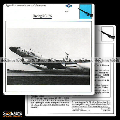 #099.01 BOEING RC 135 - Fiche Avion Airplane Card