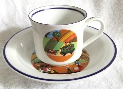 Vintage Bayreuth Germany Gloria Porcelain Cup and Bowl Four Seasons