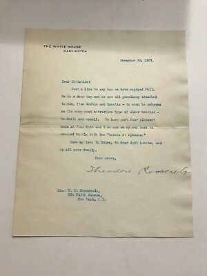 Theodore Roosevelt 1907 Typed Letter Signed as President - Archie & Quentin