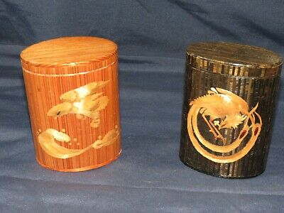 t13 Vintage Chinese Art and Craft Boxes Fenghuang & Eagle Kwangtung