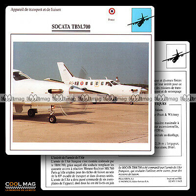 #116.05 SOCATA TBM 700 - Fiche Avion Airplane Card