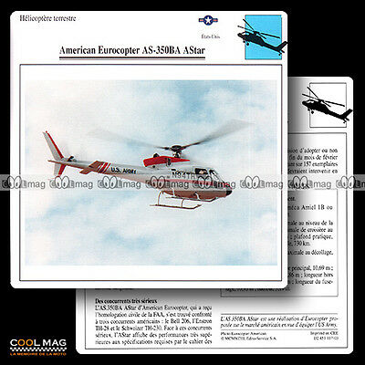 #117.03 AMERICAN EUROCOPTER AS 350 BA ASTAR (Hélico) - Fiche Avion Airplane Card
