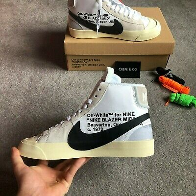 sneakers for cheap 9e0c7 13969 Nike x Off-White Blazer Mid   AA3832-100   Mens UK Size 8
