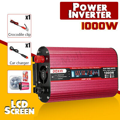 1000W Car Power Inverter DC 12/24V to AC 110/220V Modified Sine Wave Converter