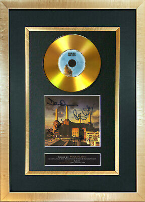 #184 PINK FLYD Animals GOLD DISC Cd Album Signed Autograph Mounted Photo Print