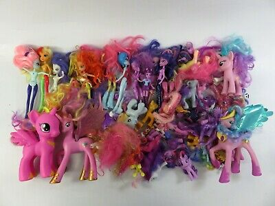 7+ Lbs of Assorted, Loose Modern Hasbro My Little Pony Toy Horses, Dolls - LOT