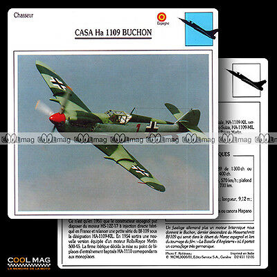 #012.05 CASA HA 1109 BUCHON - Fiche Avion Airplane Card