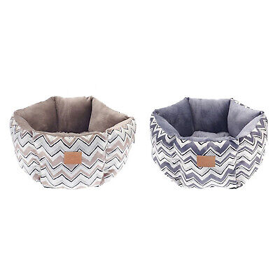 Puppy Dog Pet Cat Hexagon Nesting Bed Aztec Chevron Soft Faux Fur Cushion