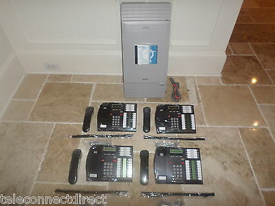 Nortel Norstar MICS Office Phone System Meridian (4) T7316 phones Like New