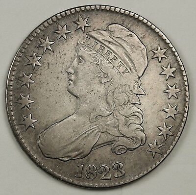 1823 Bust Half.  Many Varieties.  Double Profile.  About X.F.  131548