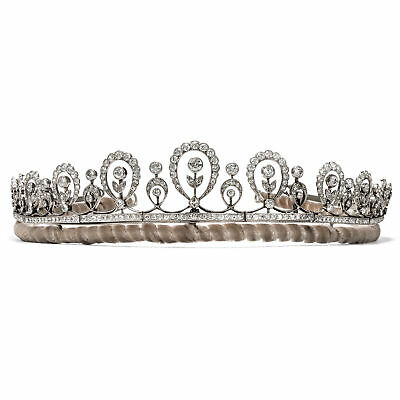 Antike Diadem aus Platin mit 14,69 ct Diamanten, London um 1910 / Edwardian