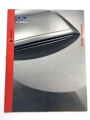 2003 Ford Mustang and Thunderbird 16-page Original Sales Brochure - GT Mach I