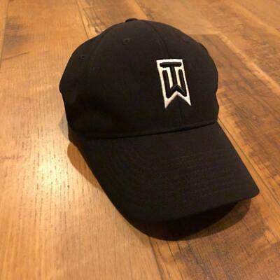 9e9559a368538 Nike One Flex Fit Tiger Woods Collection Vr Fitted Hat Black Golf Stretch  M L