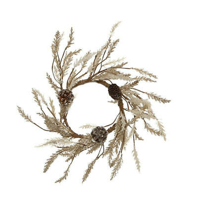 Sparkling Pine and Pine Cone Candle Ring | for Indoor Decor