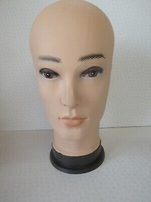 """Male Mannequin 12"""" Head Hat Cap Wig Stand Glasses Display Dummy"""