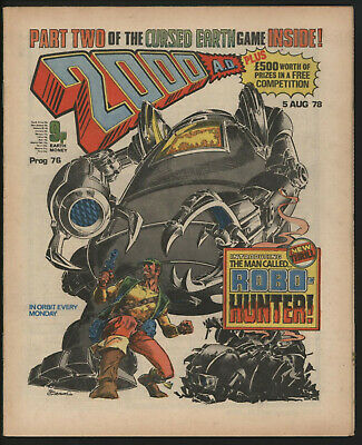 2000 Ad 76. Judge Dredd And Cursed Earth. First Appearance Of Robo-Hunter