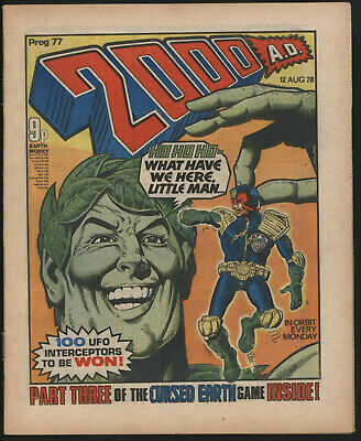 2000 AD No. 77.  BANNED JOLLY GREEN GIANT ISSUE. BRIAN BOLLAND ART