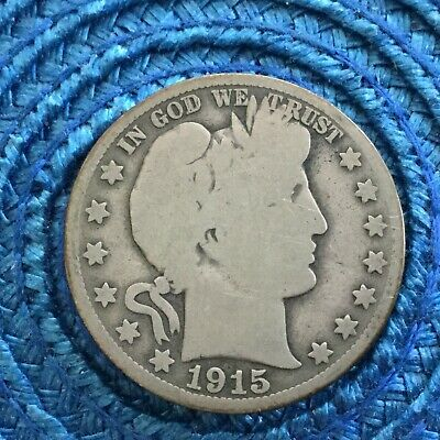LOT # 7231 Barber half dollar 1915 s  in  good condition