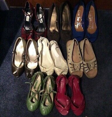 Job Lot Of 8 Pairs Of Womens Shoes Size 3,incl. M&s, Kaliko,next,dorothy Perkins