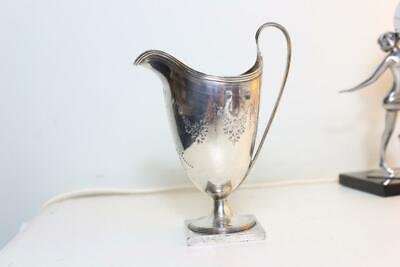Lot 8 Georgian solid silver helmet jug circa 1790 very clean hallmarks no reserv