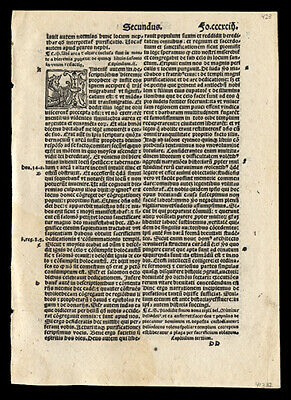 2nd Maccabees Chapt 2-5 1519 Bible Leaf Leaf Lot (2) 4 Historiated Letters