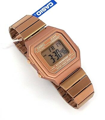 CASIO Digital  Alarm Rose Gold Stainless steel B650WC-5  B650 New B650WC
