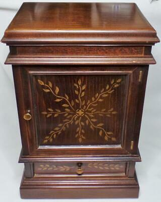 Reproduction Chippendale Miniature Salesman Sample Wood Armoire Wardrobe Chest