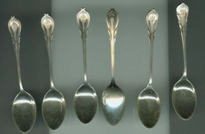 English Demitasse Sterling Set Of 6 Spoons 1906