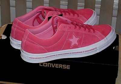 e8ab70dfc9b Mens Converse One Star OX Size 10.5 Pinstripe Low Paradise Pink Geranium  159815C